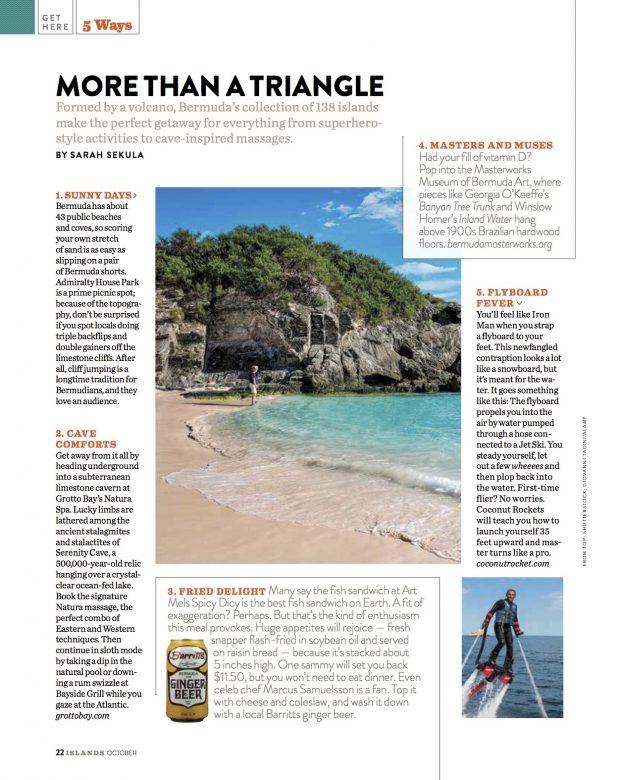 1-.2015 - 5 Ways Bermuda - ISLANDS