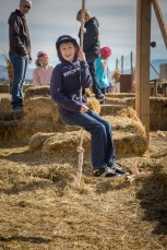 Drew at the pumpkin patch.