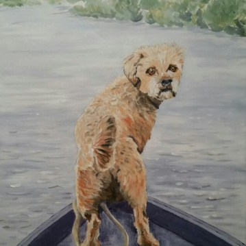 Dog painting by commissioning artist Sarah Seymour