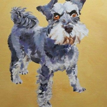 Lola - pet painting by commission artist Sarah Seymour