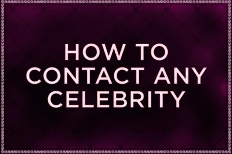 How to contact any celebrity