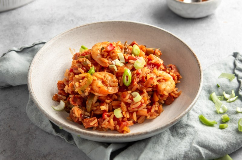 Prawn and chorizo jambalaya
