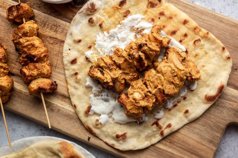 Chicken tikka naan kebab