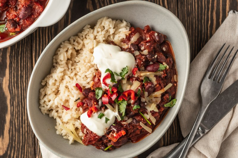 Chipotle mixed bean chilli