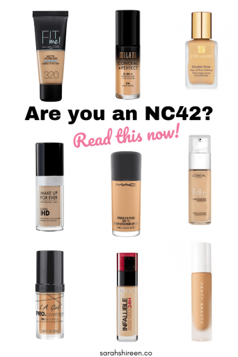 nc42 comparable foundation shade