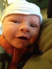 Marlowe's first picture, taken in the hospital waiting room.