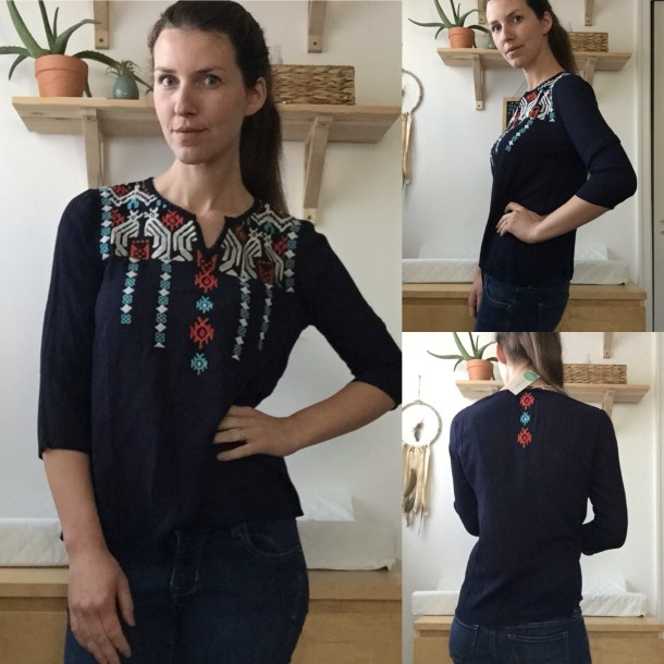 April Stitch Fix Review THML Lenon Embroidered Top