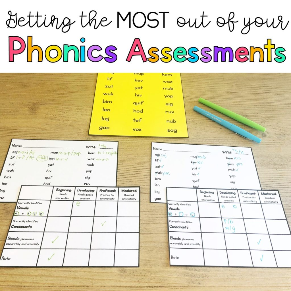 hight resolution of Phonics Assessments - Sarah's Teaching Snippets