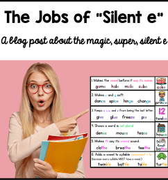 The Jobs of Silent e - Sarah's Teaching Snippets [ 1292 x 1290 Pixel ]