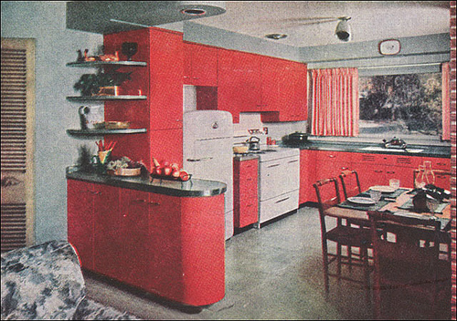 st charles steel kitchen cabinets design program atomic pink vintage - retro inspiration board at ...
