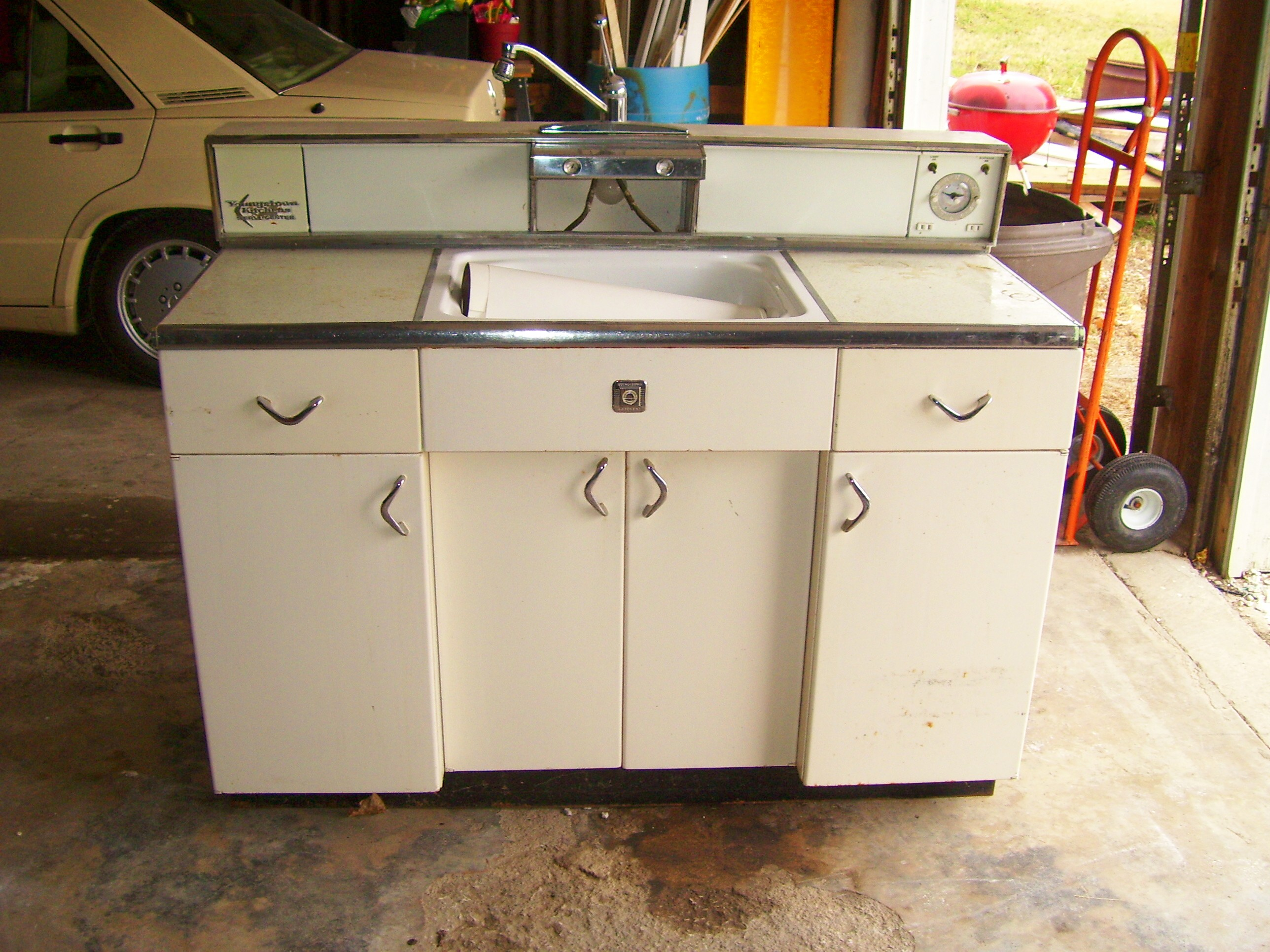 metal cabinets kitchen base with drawers retro for sale at home in kansas city