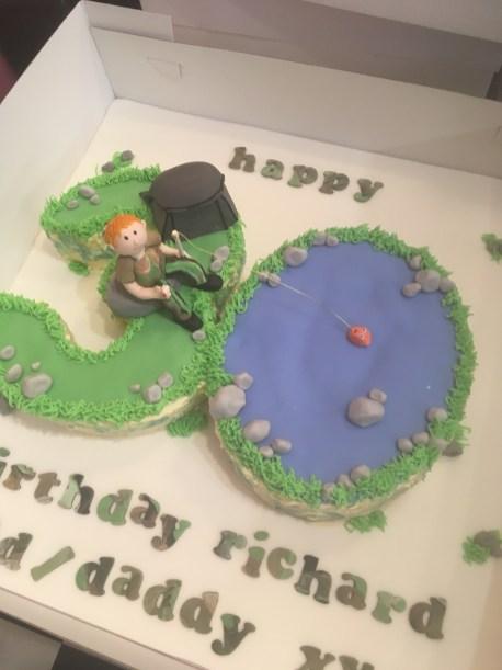 Carp Fishing 30 Birthday Cake Sarah's Cake Shop Looe