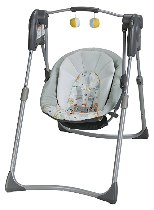graco slim spaces high chair yellow chevron baby swing product review - sarah's sage advice