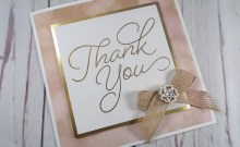 Stampin' Up So Very Much Thank You Card