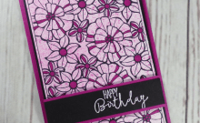 Falling Flowers Spritzed Birthday Card