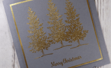Lovely as a Tree Handmade Christmas Card