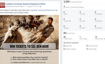 Movie Contest on Facebok for Ben-Hur