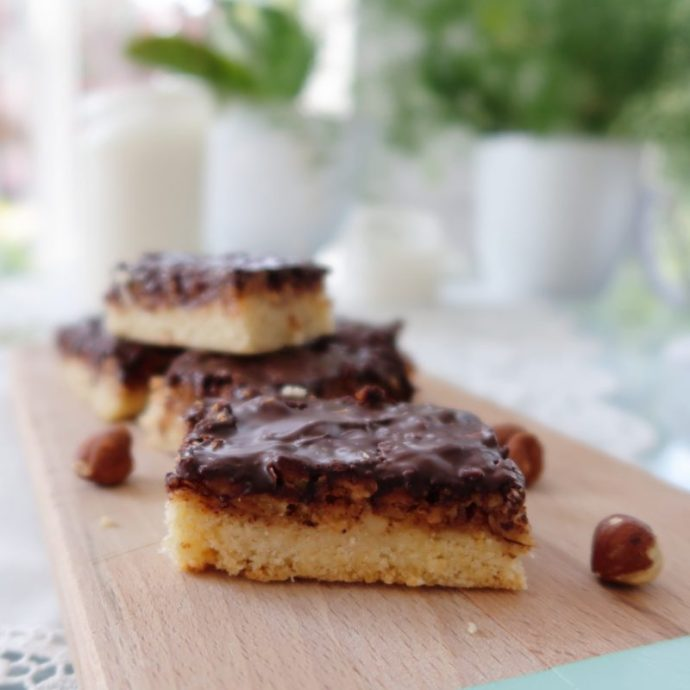 Grandma's Vegan Chocolate Hazelnut Bars