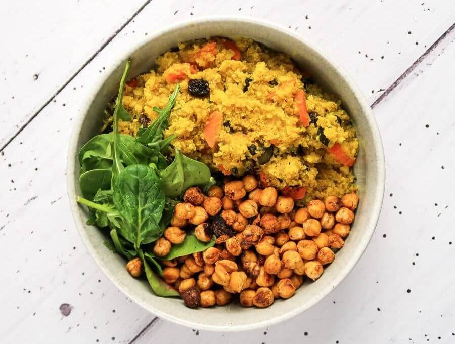 Moroccan Cauliflower Rice Buddha Bowl
