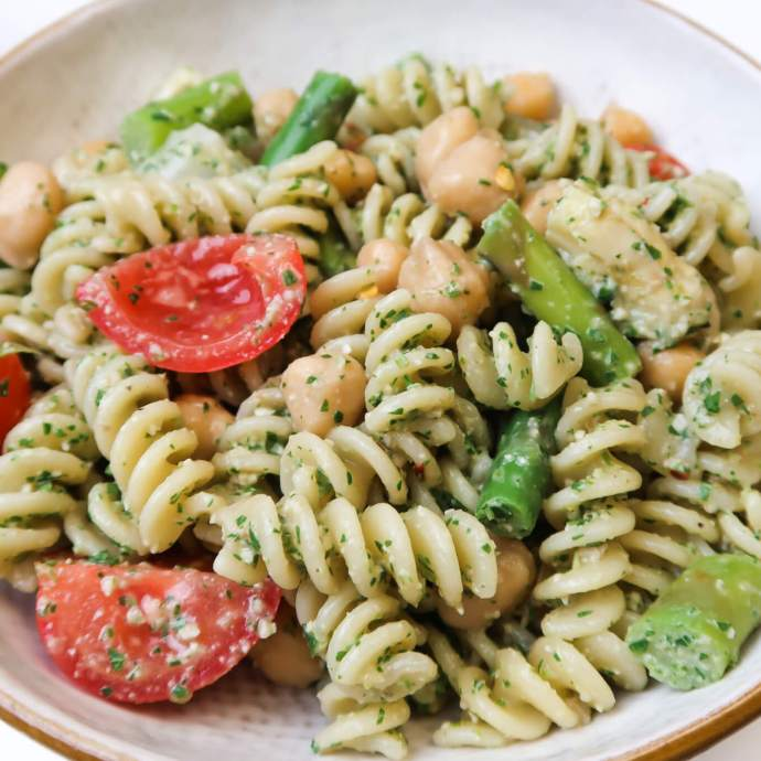 Vegan Lemon Asparagus Pasta Salad