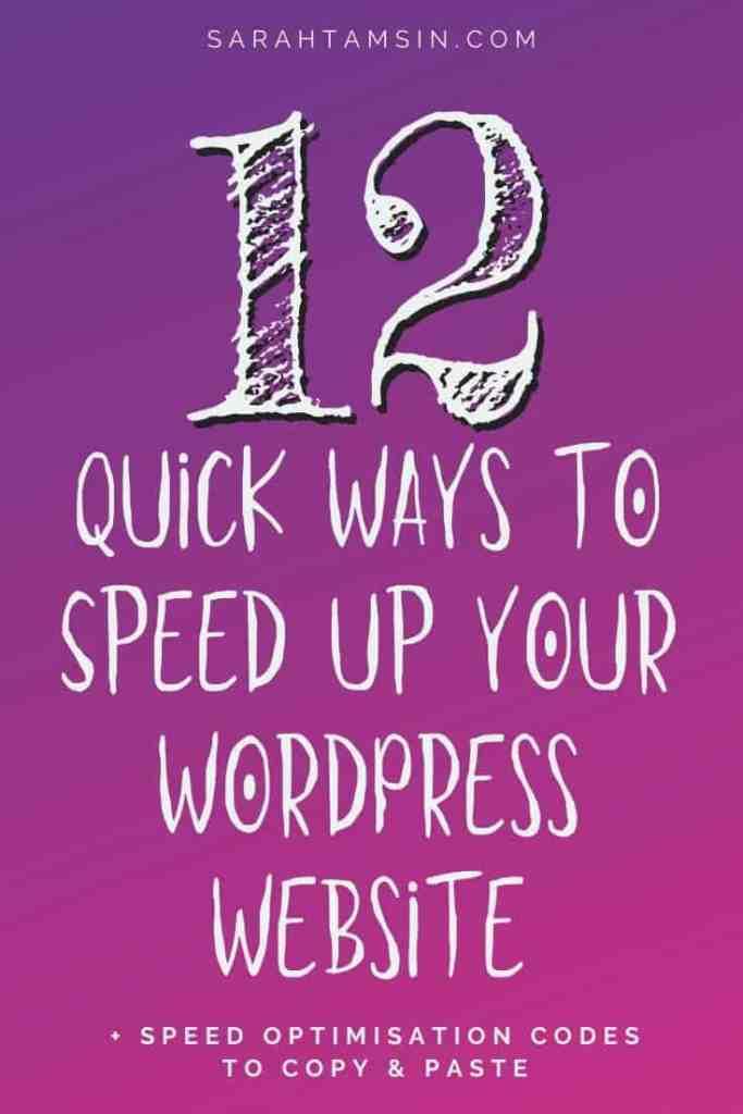12 Quick Ways to speed up your WordPress website