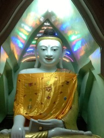 Psychedelic buddha (there were many) at Shwedagon Pagoda.