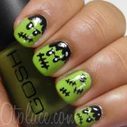 ten scariest nail art design