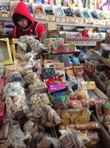 Cookies and candy in the market
