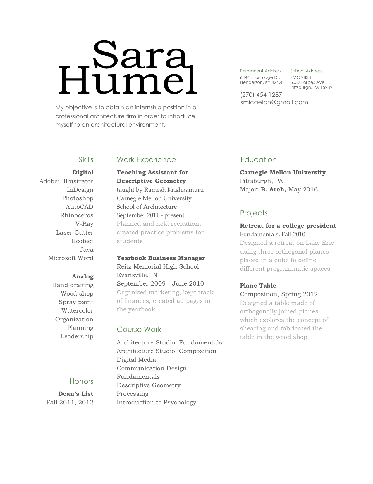 What To Write Under Communication On A Resume Sara Humel It Is Just The Beginningspring 2012