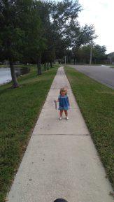 Ella on the Sidewalk