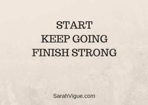 finish strong sarah vigue