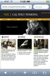 on the Cal Poly Pomona website