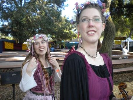 Ren Faire--Christina and Sarah, star-struck