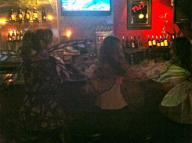 Three fairies at the bar