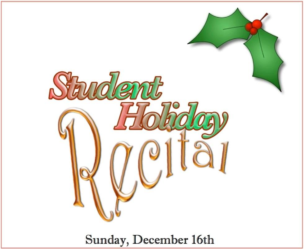 Student Holiday Recital Logo