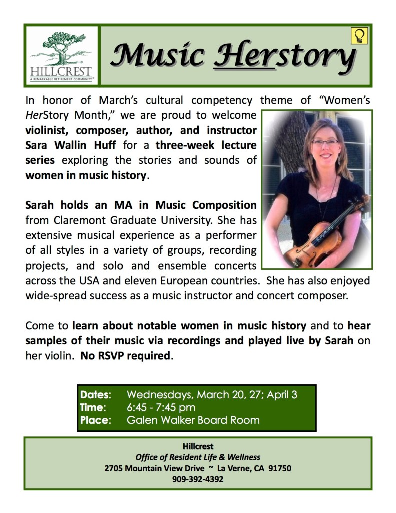 March Womens Herstory Lecture Series