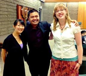 Pianist Jessica, Violist Miguel, and vocalist/violinist/composer Sarah