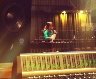 Anne (cello) records Sonata Moderna and Organic Circuitry for us