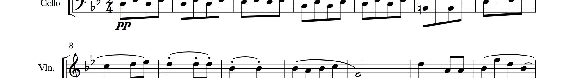 Rosamunde Entr'acte No. 3 (for Violin/Cello Duo)