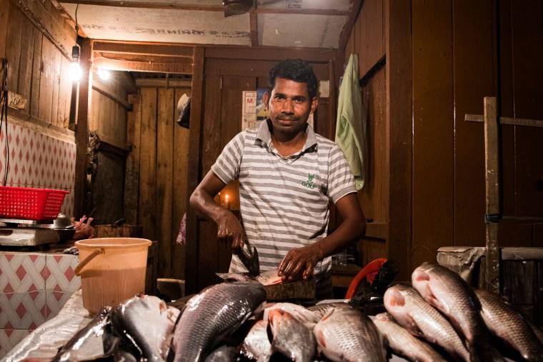 Fish Seller, Guwahati, Assam