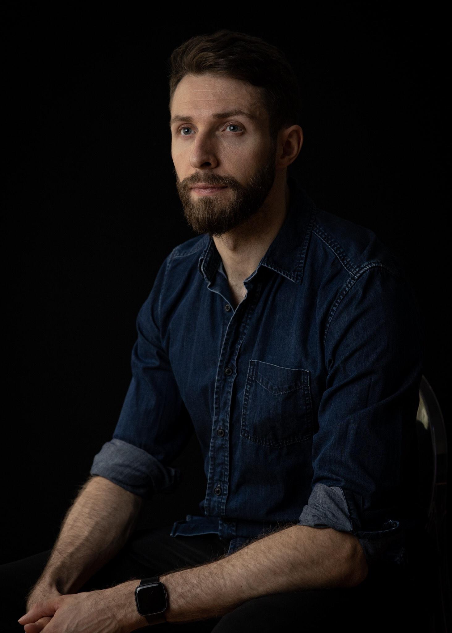 male studio portrait
