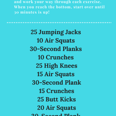 At Home 30-Minute Circuit Workout (No Equipment Needed!)