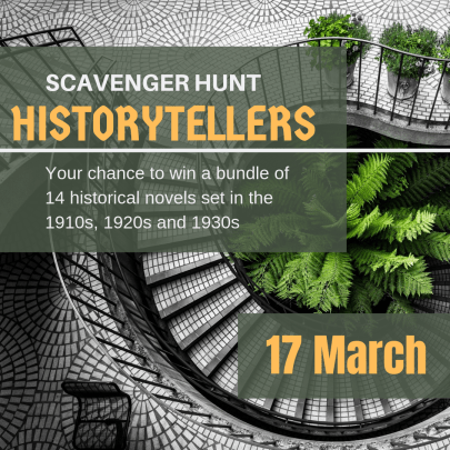 HISTORYTELLERS Scavenger Hunt - 17 March 2019 - Your chance to win a bundle of 14 historical novels set in the 1910s, 1920s and 1930s