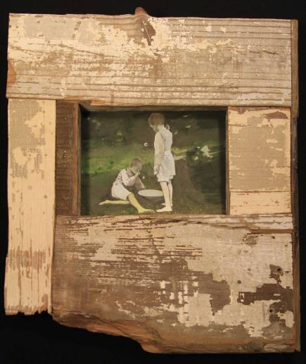 oil paintings with reclaimed wood frame