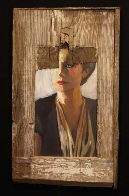 stark German abstract expressionist portrait of a woman