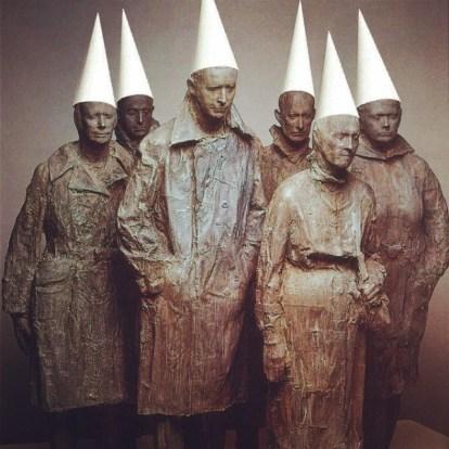 Cheering Up Segal sculptures - Sarah Zar collage