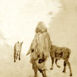 Walking with Wolves sketch Sarah Zar oil paintings