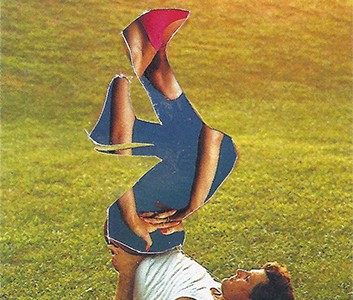 stretch legs collage of a man doing yoga outside on grass