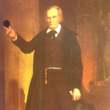 ~Henry Clay (1777-1852), by Charles Wesley Jarvis, 1854.
