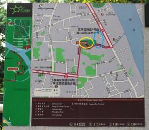 Map around Julong Village